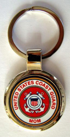United States Coast Guard Proud Mom Key Chain