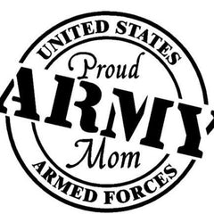 Proud army mom bumper sticker decal