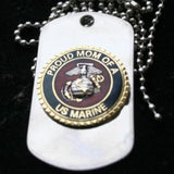 Dog Tag - Proud Mom Of A US Marine DOG TAG