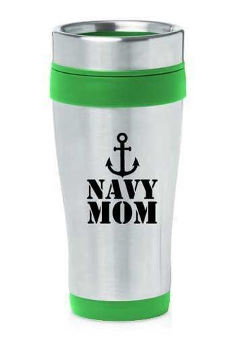 Navy Mom Travel Mug Coffee Cup