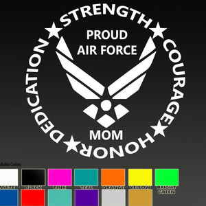 Air Force Mom Vinyl Sticker Decal - MotherProud