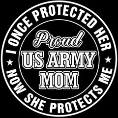 Army Mom Once Protected Decal