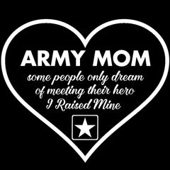Army Mom Raised My Hero Decal - MotherProud