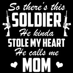 Army Mom Soldier Stole My Heart Decal - MotherProud