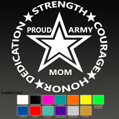 Army Mom Vinyl Sticker Decal