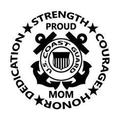 COAST GUARD MOM United States Sticker Decal