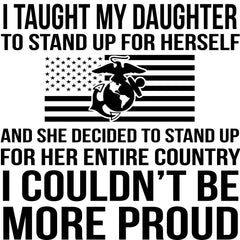 Marine Mom More Proud Decal