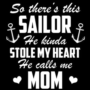 Navy Mom Sailor Stole My Heart Decal - MotherProud