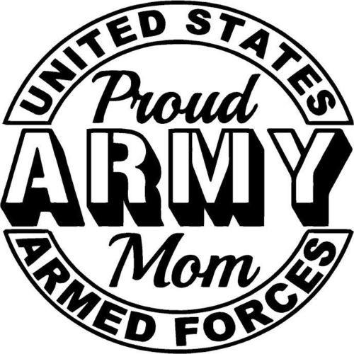Graphics Decals - Proud Army Mom Vinyl Sticker Decal
