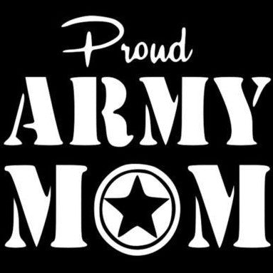Proud US Army Mom Vinyl Decal Sticker