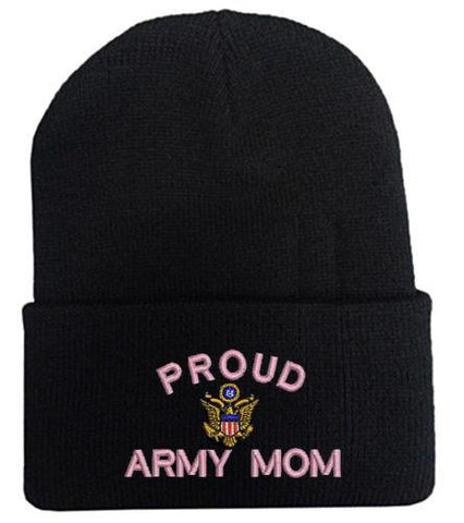 Proud Army Mom Beanie Hat