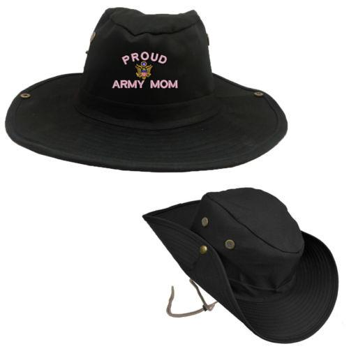 Proud Army Mom OUTDOOR BOONIE BUSH Hat