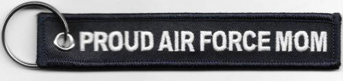 Proud Air Force Mom Embroidered Key Ring - MotherProud