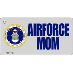 Smart Blonde Air Force Mom Novelty Keychain