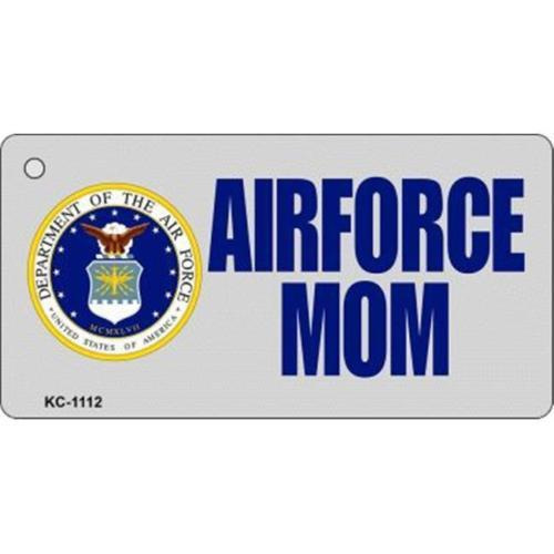 Smart Blonde Air Force Mom Novelty Keychain - MotherProud