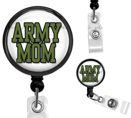 Military Army Mom Work ID Badge Holder - MotherProud