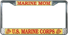 License Plate Frame US Marine Corps Mom - MotherProud