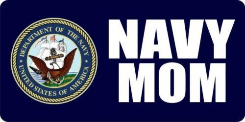 Navy Mom Photo License Plate