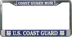 US Coast Guard Mom License Plate Frame USCG - MotherProud