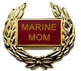 Marine Corps - Marine Mom USMC Wreath Hat Lapel Pin