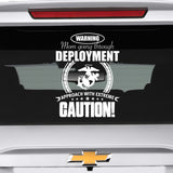 Marine Mom Approach With Caution Decal