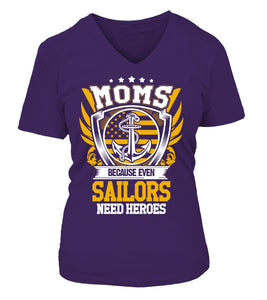 Navy Mom Heroes T-shirts