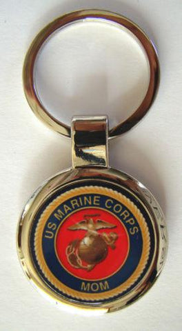 United States Marine Proud Mom Premium Key Chain