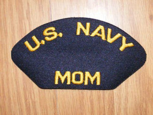 Navy - US Navy Mom Embroidered Patch