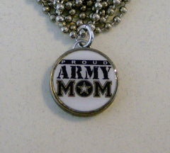 PROUD ARMY MOM Necklace on 24