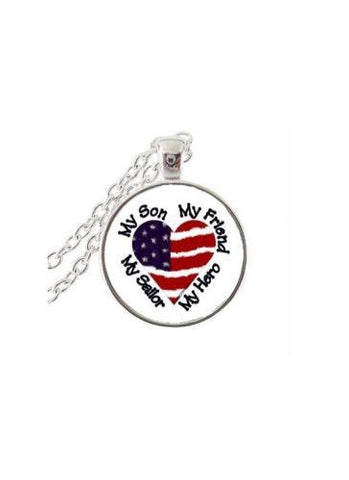 Proud Mom Of Navy Sailor Jewelry Pendant Necklace