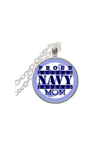 Necklace - Proud Navy Mom Jewelry Pendant Necklace