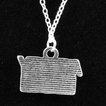 "16"" ARMY MOM Charm Necklace Silver Plated 925 Chain - MotherProud"