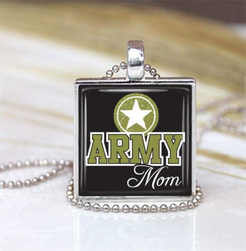Necklaces & Pendants - Handmade Army Mom Pendant Necklace