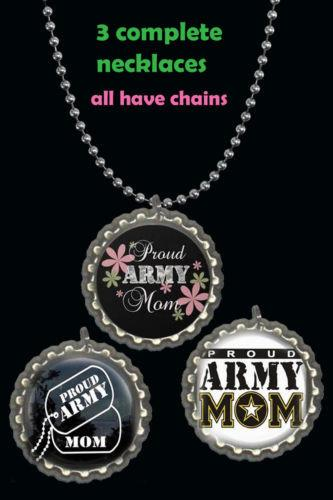 Proud U.S Army Mom 3 Necklaces