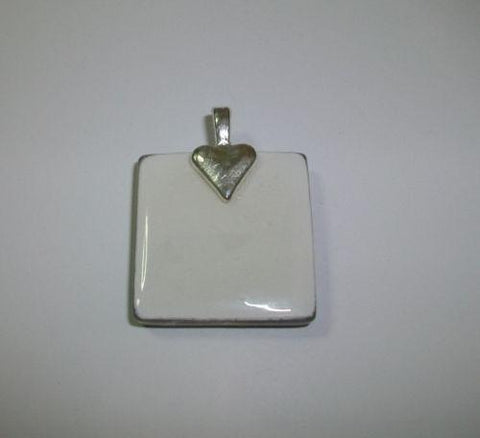 Proud Army Mom Insignia 1x1 Crystal Tile Pendant