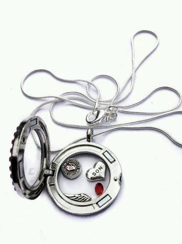 United States Marine Mom memory locket necklace