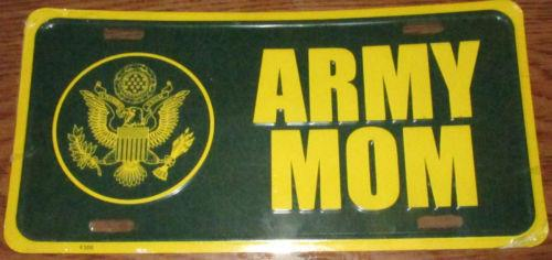 Army Mom Military Pride Embossed Metal License Plate Novelty Car Tag