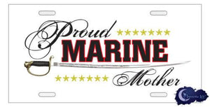 Other Current Militaria - Proud Marine Mom Supporter License Plate