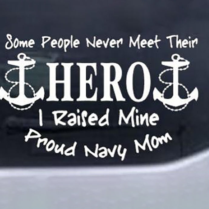 Hero Proud Navy Mom Decal - MotherProud