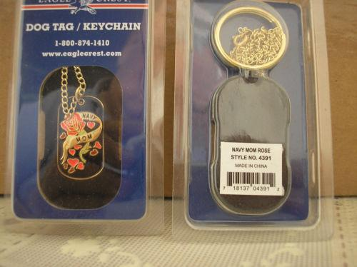 Navy Mom DOG TAG / KEY CHAIN