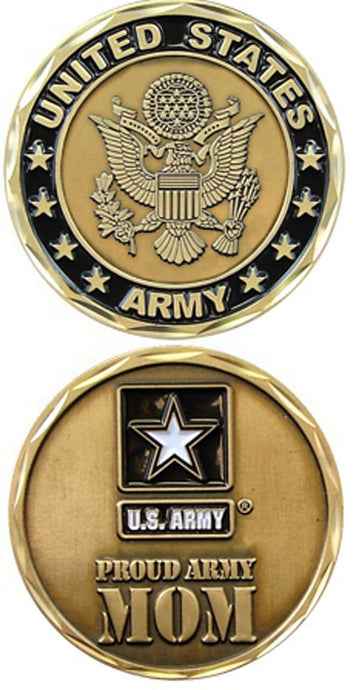 US Army PROUD ARMY MOM  Challenge Coin - MotherProud