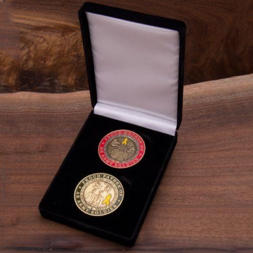 Army Mom and Dad Coin Set With Velvet Box