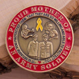 Army Mom and Dad Coin Set With Velvet Box - MotherProud