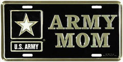License Plate US Army Mom 1 One Star - MotherProud