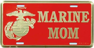 Other US License Plates - License Plate US Marine Corps MOM