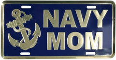 License Plate US Navy MOM Metal Sign - MotherProud