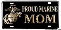 Proud Marine Mom Aluminum License plate - MotherProud