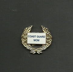 Hat Lapel Push Tie Tac Pin Coast Guard Mom