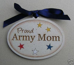 Wood Ornament Proud Army Mom Ribbon - MotherProud