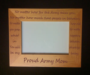 Military Mom Photo Frame No Matter - MotherProud